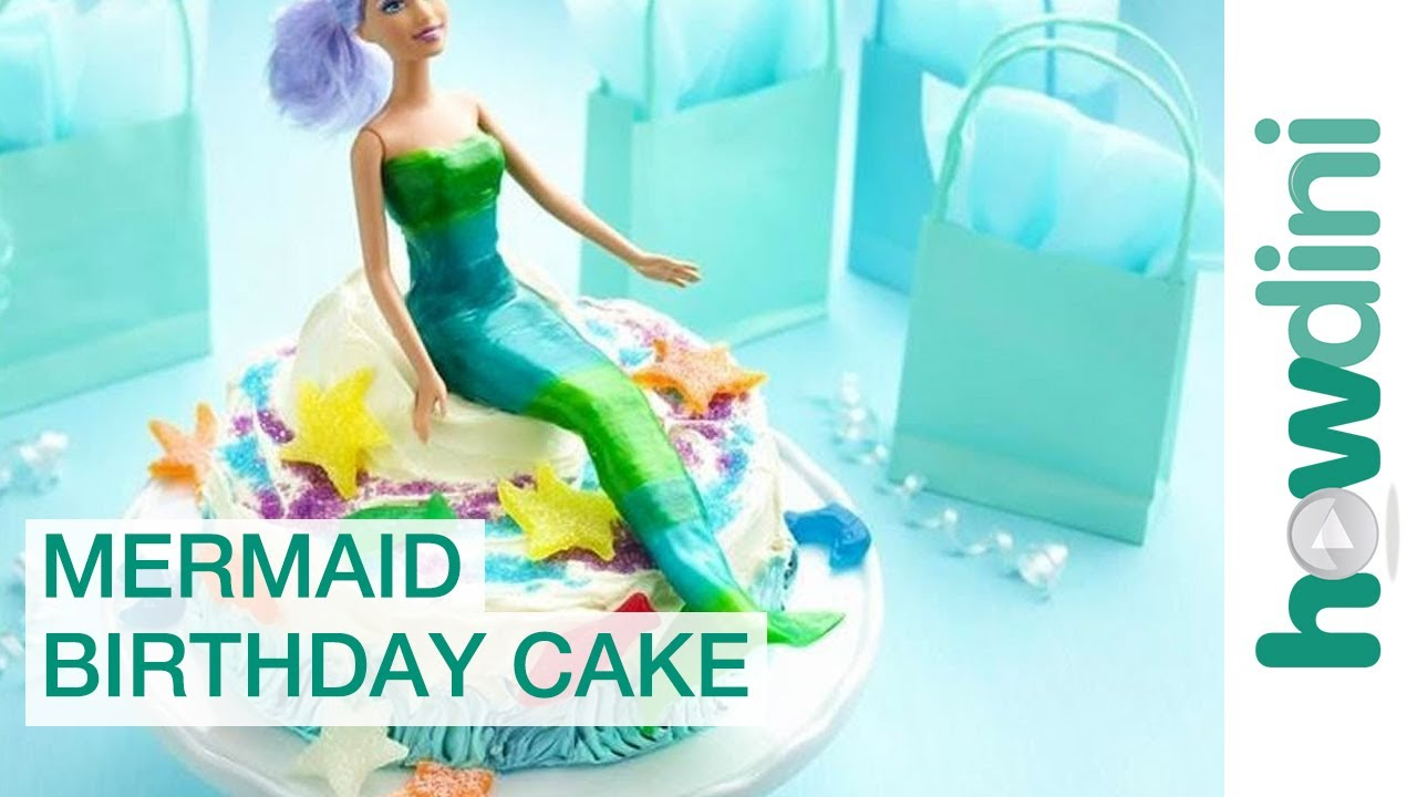 Birthday Cake Ideas Easy Mermaid Birthday Cake YouTube