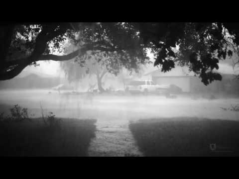 Severe Storm hits Kingsville Texas - Slow motion lightning strike
