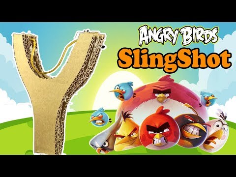 Diy Angry Birds Slingshot From Cardboard | How To make Simple Slingshot At Home