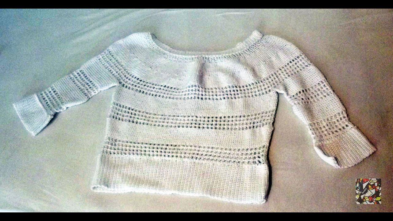 Crochet Summer Sweater Maglie Estive Alluncinetto Youtube