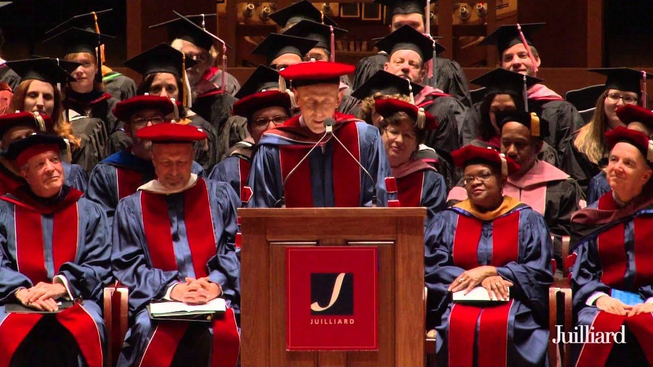 Juilliard Commencement 2015 -- Nicholas Hytner, Speaker