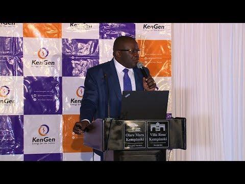 #KenGenFYResults2017 Investor Briefing with Finance Director John Mudany @KenGenKenya