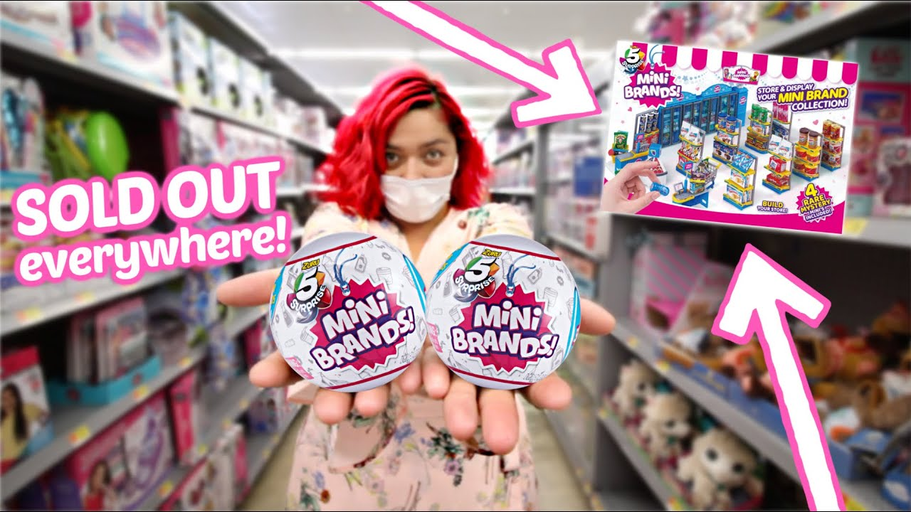 Searching for NEW MINI BRANDS Mini Mart at Walmart!