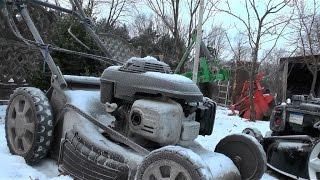 Odpalanie Kosiarki po bardzo mroźnej nocy (-16°C) Very ColdStart Mower