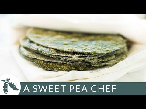 4 Ingredient Spinach Tortillas | Homemade Tortillas | A Sweet Pea Chef
