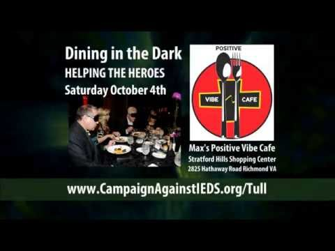 Dine in the Dark to Help Blinded Veterans 4 Oct 2014