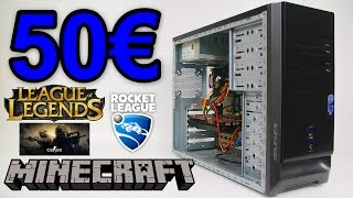 50€ PC Gaming League of Legends, Minecraft PC Review Test Deutsch Euro