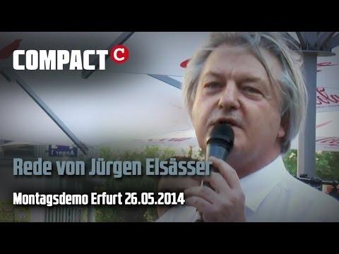 Jürgen Elsässer auf Erfurter Montagsdemo 26. Mai