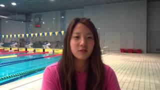世界水泳バルセロナ代表選手:宮本靖子(東洋大学)