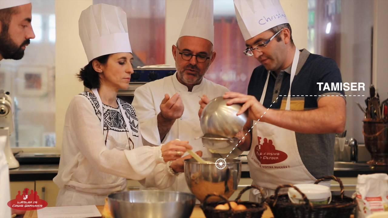 les cours de cuisine pour groupes à l'atelier de cuisine gourmande