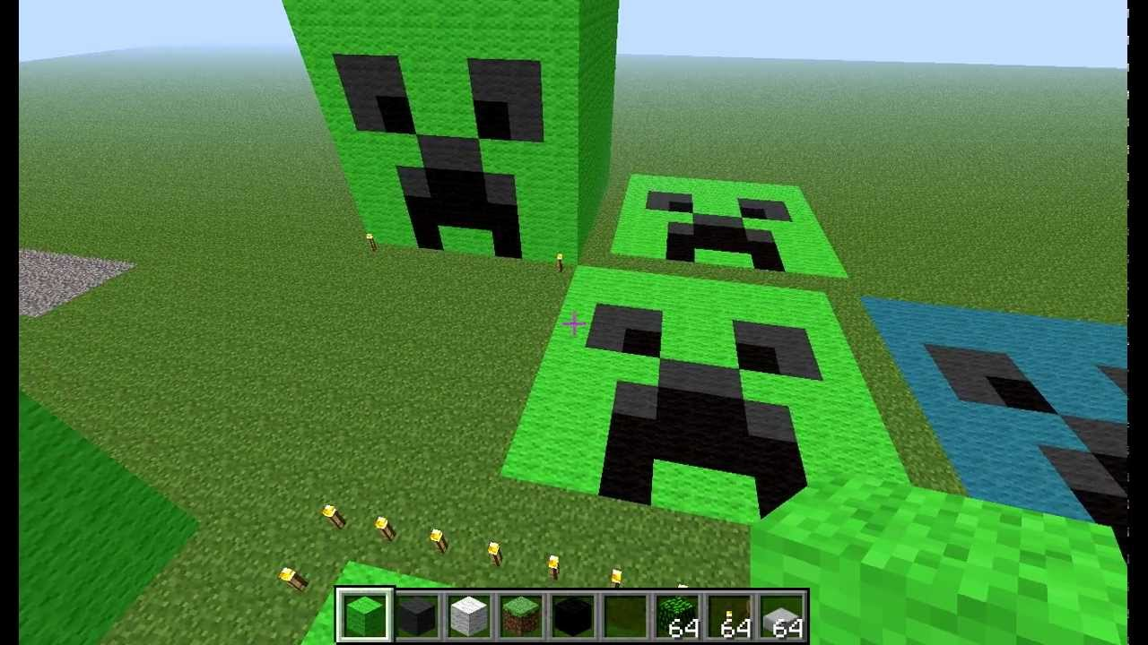 Creeper Build On Minecraft Easy
