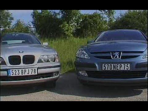Peugeot 607 HDi / Bmw 520d E39 (Test - Essai - Reportage) FR 2000