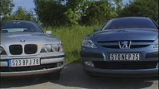 Peugeot 607 HDi / Bmw 520d E39 (Test - Essai - Reportage) FR 2000