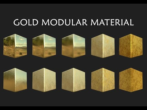 Gold with Oxidation Modular Material - Substance Designer