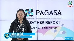 Public Weather Forecast Issued at 4:00 PM March 12, 2018