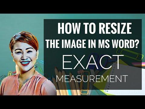 MS WORD | Resizing image with EXACT size!