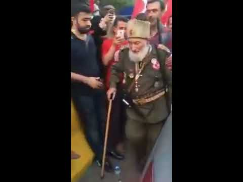 Veteran Ottoman Dons Uniform Against 2016 Coup in Turkey - Watch What The People Do
