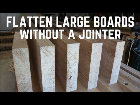 Flatten Large Boards Without A Jointer // How To / Woodworking / Planer