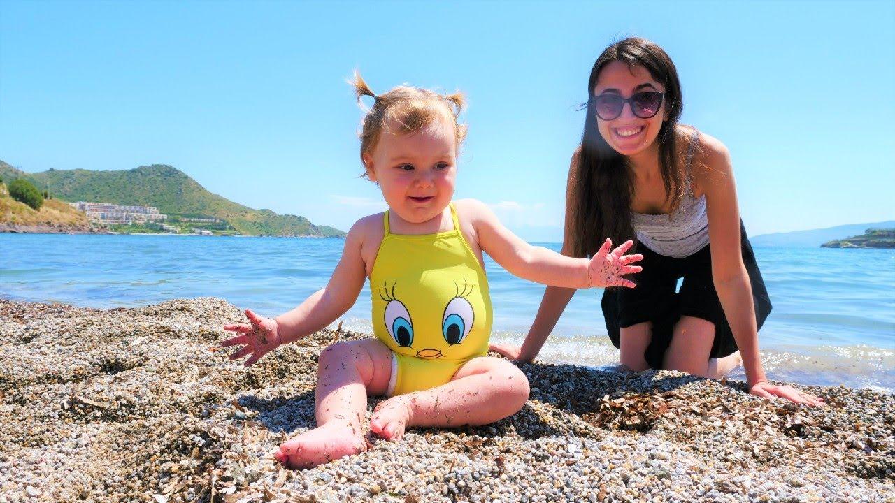 Bebek bakma videosu. Sahil oyunları! Anne Vlog. Sevcan Derin ile deniz kenarına gidiyor!