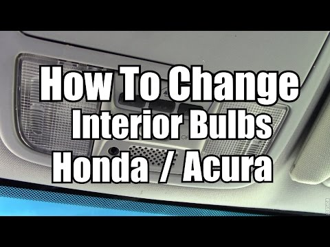 How to change map dome lights 2003 2015 honda acura - 2015 honda accord interior illumination ...