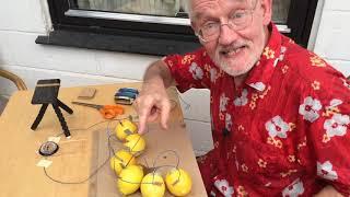 H.C. Ørsteds elektromagnetisme eksperiment genskabt med citronbatteri