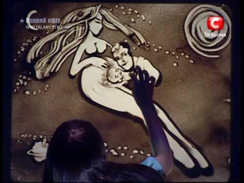 Kseniya Simonova - Sand Animation (Ukraine's Got Talent, Final) PART1