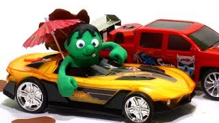 Hulk car mud 💕 Play Doh Stop motion videos for children