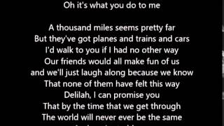 Plain White T's - Hey There Delilah - Lyrcis Scrolling