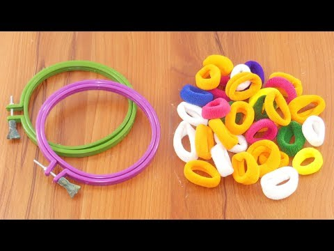 Amazing craft idea with Hair rubber bands & cardboard | DIY art and craft | DIY HOME DECO