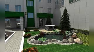 Озеленение и благоустройство территории офиса