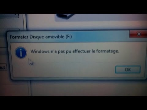windows-n'a-pas-pu-effectuer-le-formatage-solution