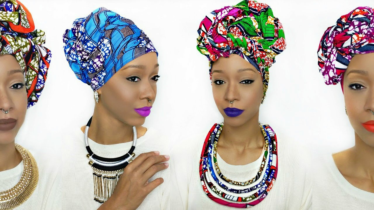 Head Wrap Tutorial 5 Different Ankara Styles Youtube