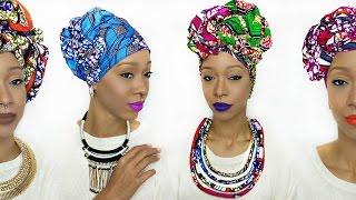 Head Wrap Tutorial | 5 Different Ankara Styles thumbnail