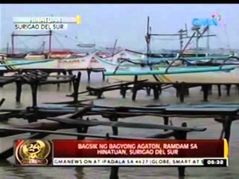 24 Oras: Bagsik ng Bagyong Agaton, ramdam sa Hinatuan, Surigao del sur