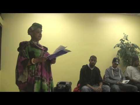 Ms  Dorothy @ Potomac Gardens Kwanzaa Celebration 2013