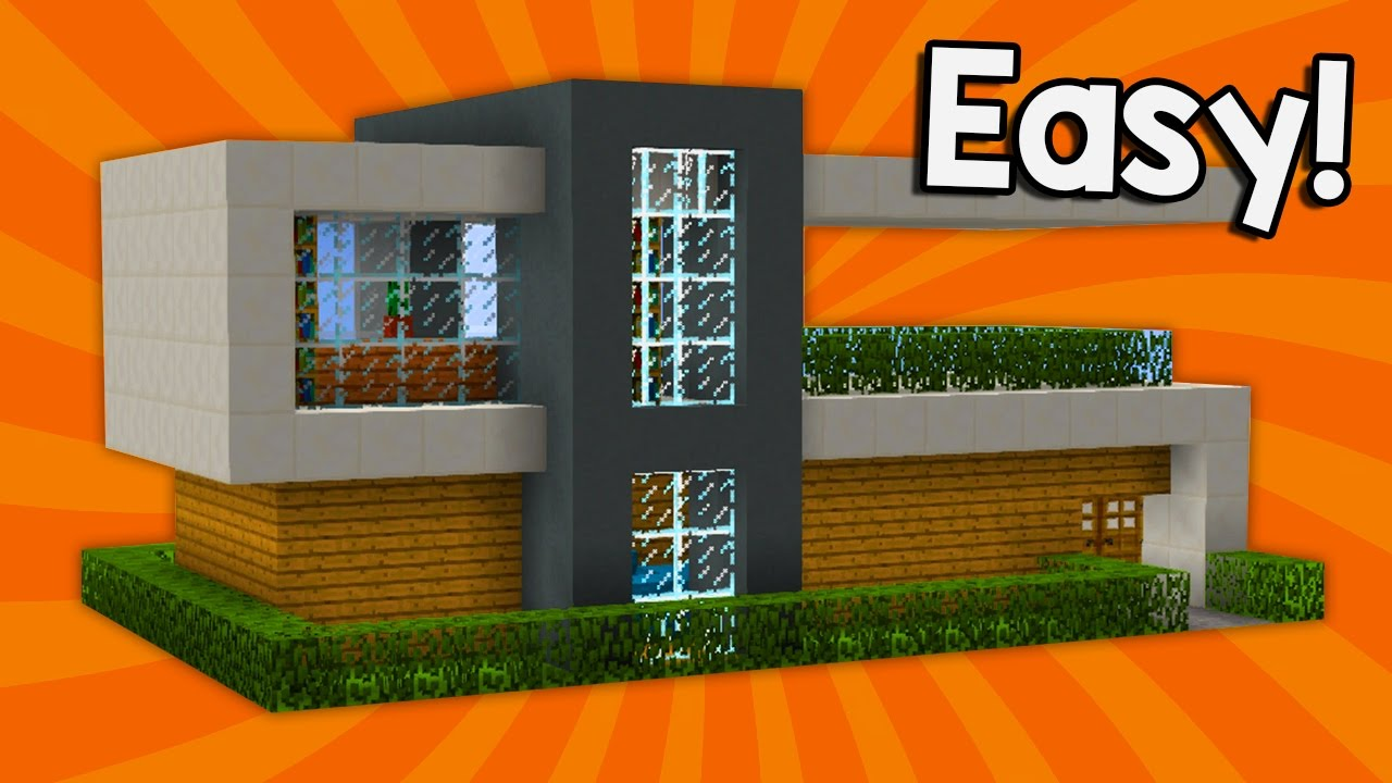 MINECRAFT How to build modern house Best house tutorial PS3
