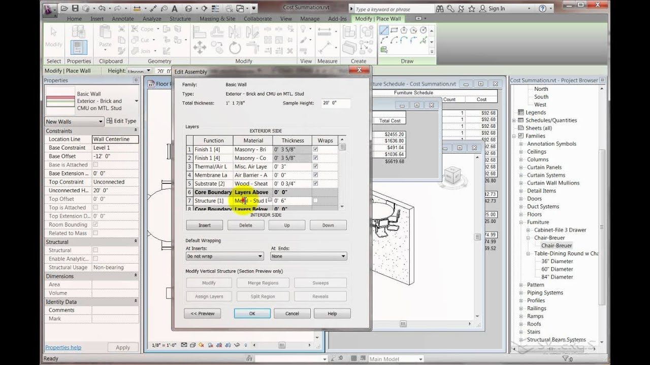 Revit Cost Summation -- Part 2