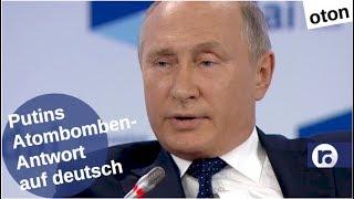 Putins Atombomben-Antwort auf deutsch