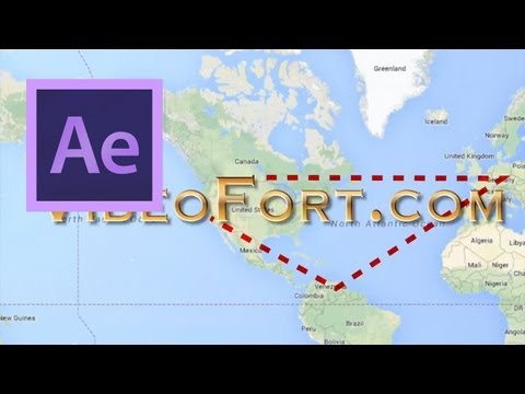 After Effects: Animate A Traveling Dotted Line - YouTube on