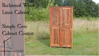 Reclaimed wood linen cabinet | Woodworking | Simple Cove Contest