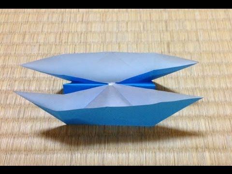 クリスマス 折り紙 折り紙 舟 : youtube.com