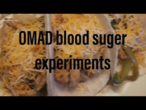 OMAD (One meal a day) Blood sugar Food Experiments