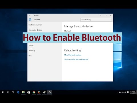 How to Enable Bluetooth in Windows 10 - YouTube