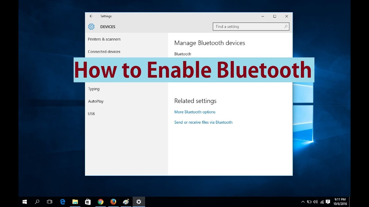 How to enable bluetooth in windows 10 youtube how to enable bluetooth in windows 10 ccuart Gallery
