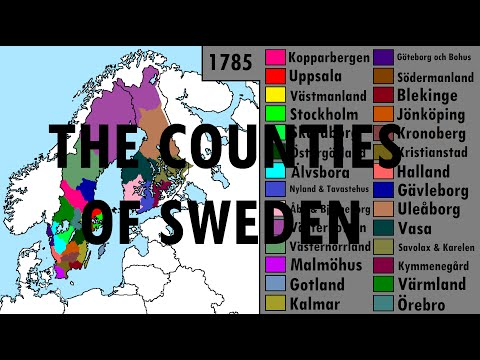 The Counties of Sweden: Every Year