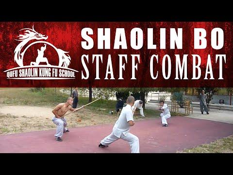 Shaolin Bo Staff Combat | Kung Fu Masters and Kung Fu Students | Martial Arts School