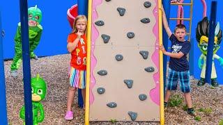 PJ MASK Disney Baby Gekko Steals Paw Patrol Fidget Spinners with Assistant and Batboy