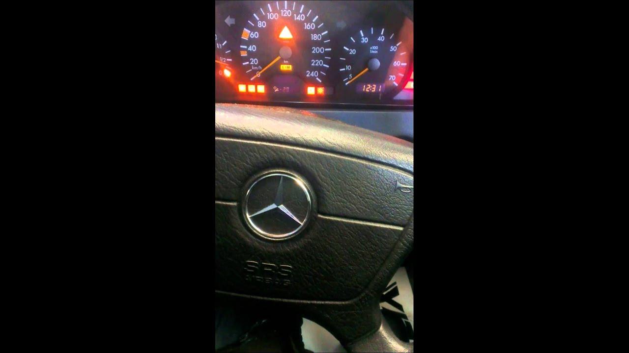 Mercedes benz c180 c200 w202 service light reset youtube for Mercedes benz dashboard lights not working