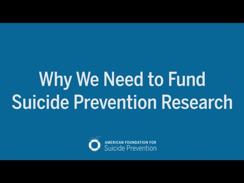 Why We Need to Fund Suicide Prevention Research - YouTube
