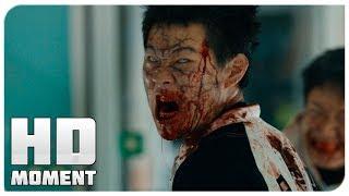 Герои пробиваются сквозь зомби - Поезд в Пусан (2016) - Момент из фильма